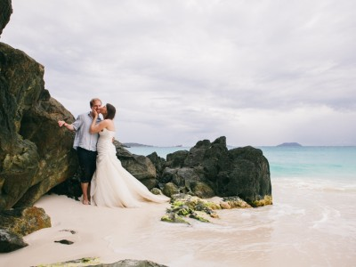 Caitlin + Charlie: St. John, Virgin Islands: Tropical DIY Destination Wedding
