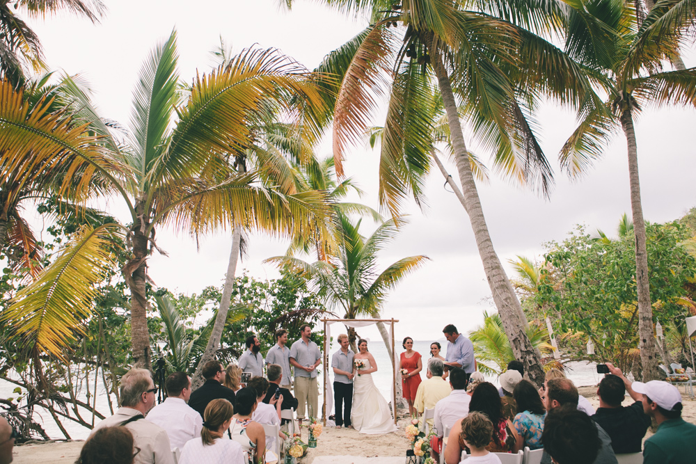 J Wiley Los Angeles Destination Wedding Photographer St John Virgin Islands wedding photography tropical sunset Oppenheimer beach travel fun DIY offbeat coral mismatched dresses first look handmade-6345
