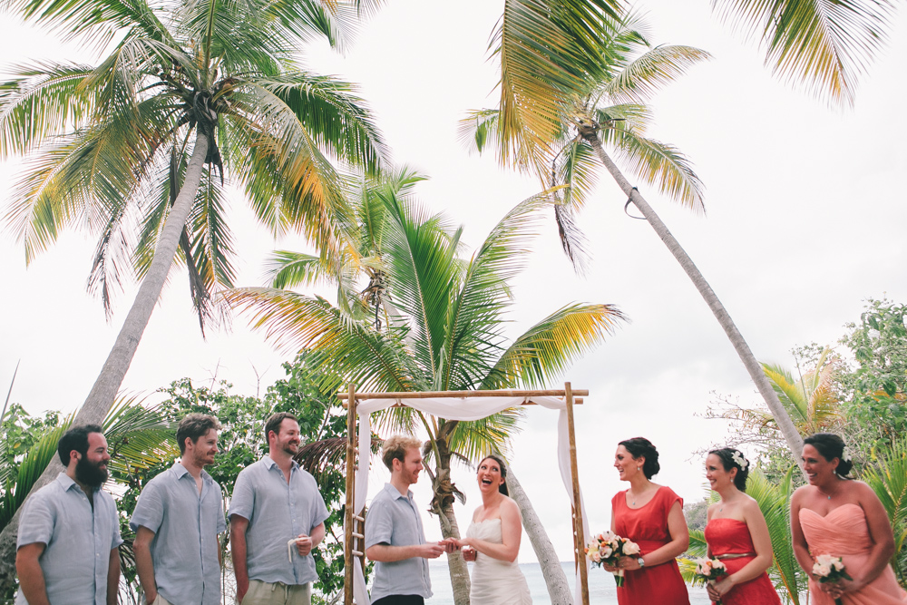 J Wiley Los Angeles Destination Wedding Photographer St John Virgin Islands wedding photography tropical sunset Oppenheimer beach travel fun DIY offbeat coral mismatched dresses first look handmade-6379