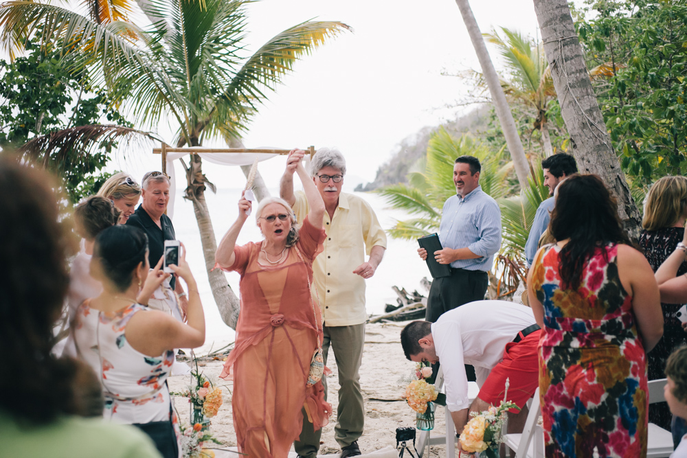 J Wiley Los Angeles Destination Wedding Photographer St John Virgin Islands wedding photography tropical sunset Oppenheimer beach travel fun DIY offbeat coral mismatched dresses first look handmade-6414