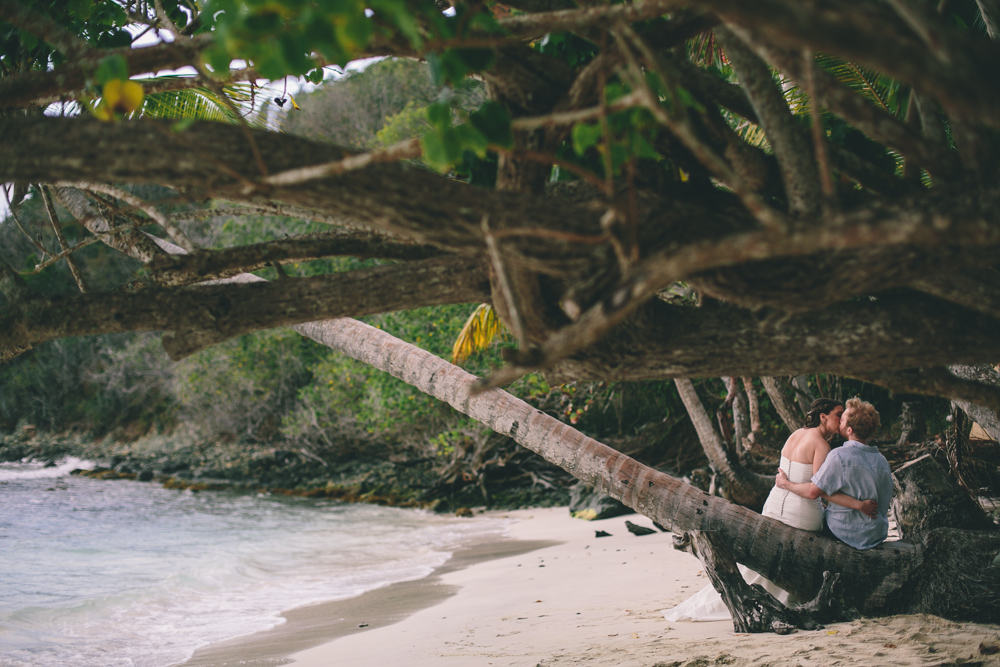J Wiley Los Angeles Destination Wedding Photographer St John Virgin Islands wedding photography tropical sunset Oppenheimer beach travel fun DIY offbeat coral mismatched dresses first look handmade-6463