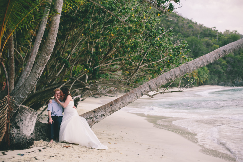 J Wiley Los Angeles Destination Wedding Photographer St John Virgin Islands wedding photography tropical sunset Oppenheimer beach travel fun DIY offbeat coral mismatched dresses first look handmade-6465