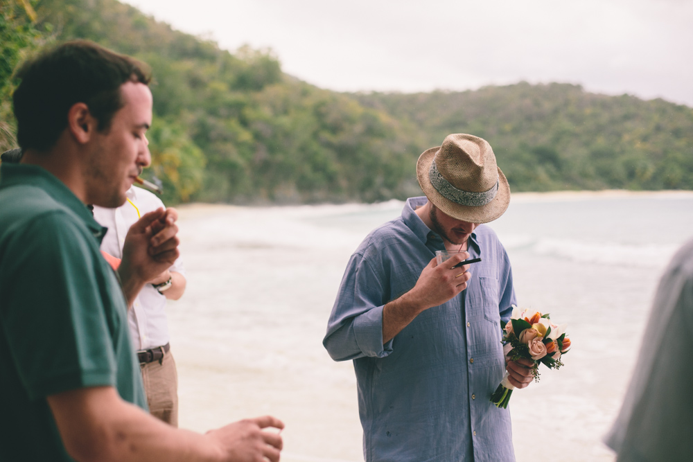 J Wiley Los Angeles Destination Wedding Photographer St John Virgin Islands wedding photography tropical sunset Oppenheimer beach travel fun DIY offbeat coral mismatched dresses first look handmade-6503