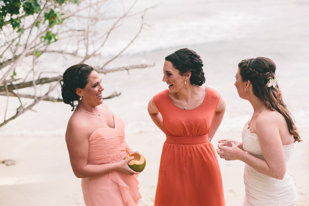 J Wiley Los Angeles Destination Wedding Photographer St John Virgin Islands wedding photography tropical sunset Oppenheimer beach travel fun DIY offbeat coral mismatched dresses first look handmade-6552