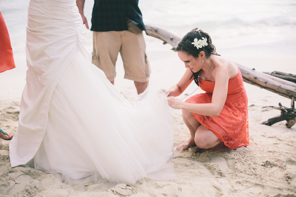 J Wiley Los Angeles Destination Wedding Photographer St John Virgin Islands wedding photography tropical sunset Oppenheimer beach travel fun DIY offbeat coral mismatched dresses first look handmade-6554