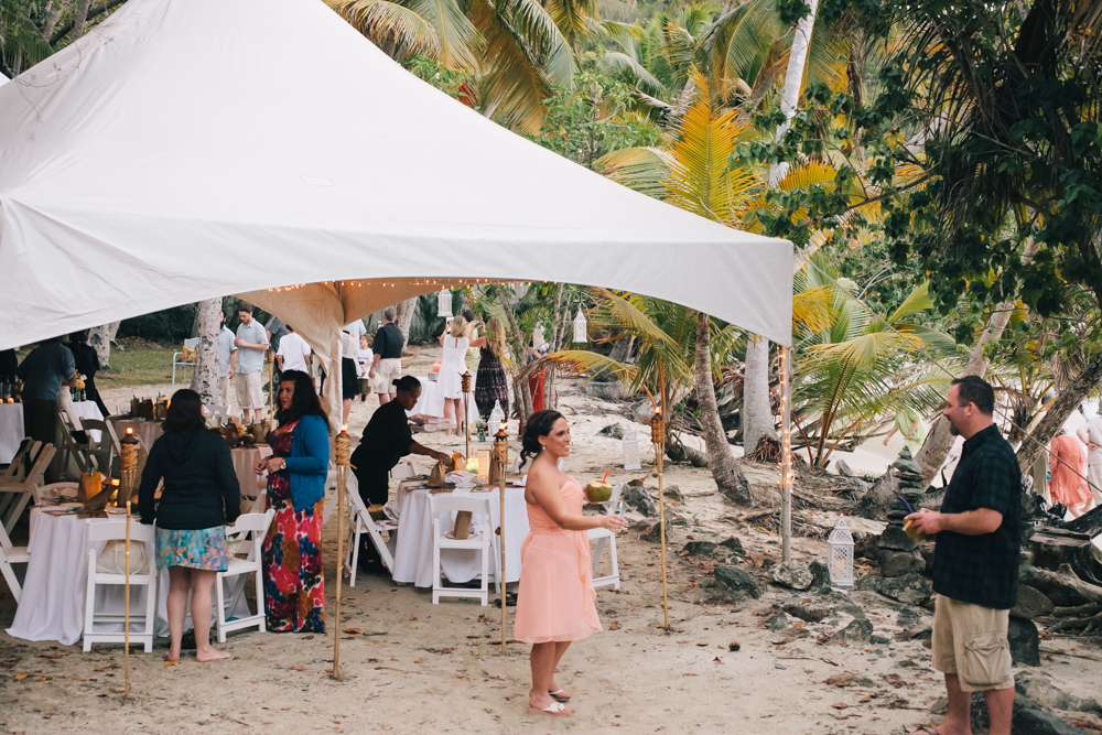 J Wiley Los Angeles Destination Wedding Photographer St John Virgin Islands wedding photography tropical sunset Oppenheimer beach travel fun DIY offbeat coral mismatched dresses first look handmade-6605