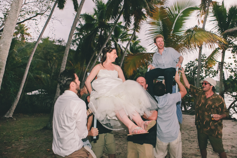 J Wiley Los Angeles Destination Wedding Photographer St John Virgin Islands wedding photography tropical sunset Oppenheimer beach travel fun DIY offbeat coral mismatched dresses first look handmade-6627