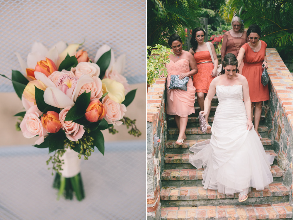 J Wiley Photography Los Angeles Destination Wedding Photographer St John Virgin Islands wedding photography tropical sunset Oppenheimer beach travel fun DIY offbeat coral mismatched dresses photojournalism first look handmade5