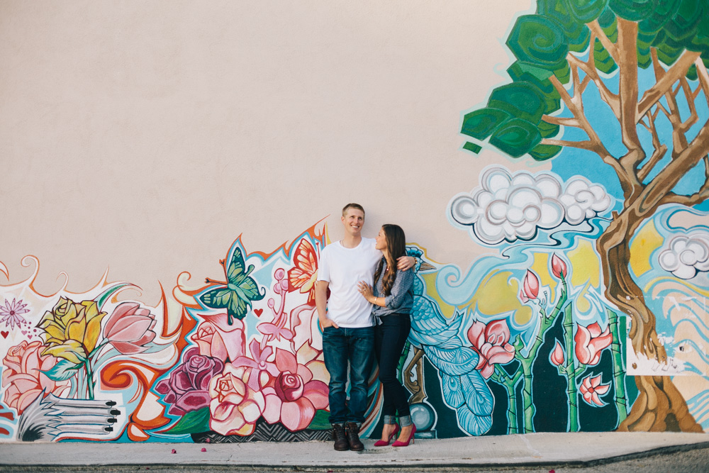 J Wiley Photography Los Angeles Wedding Photographer Santa Monica Beach Urban Downtown Modern Mural Pretty Fun Colorful-1