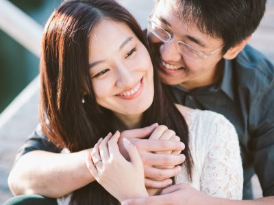 Yang + Anna: Venice Canals + Urban Architecture Engagement Photography: Venice Beach