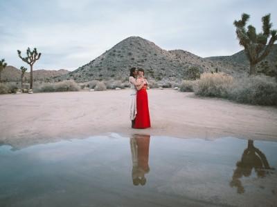 joshua tree elopement wedding photographer same sex marriage indie DIY