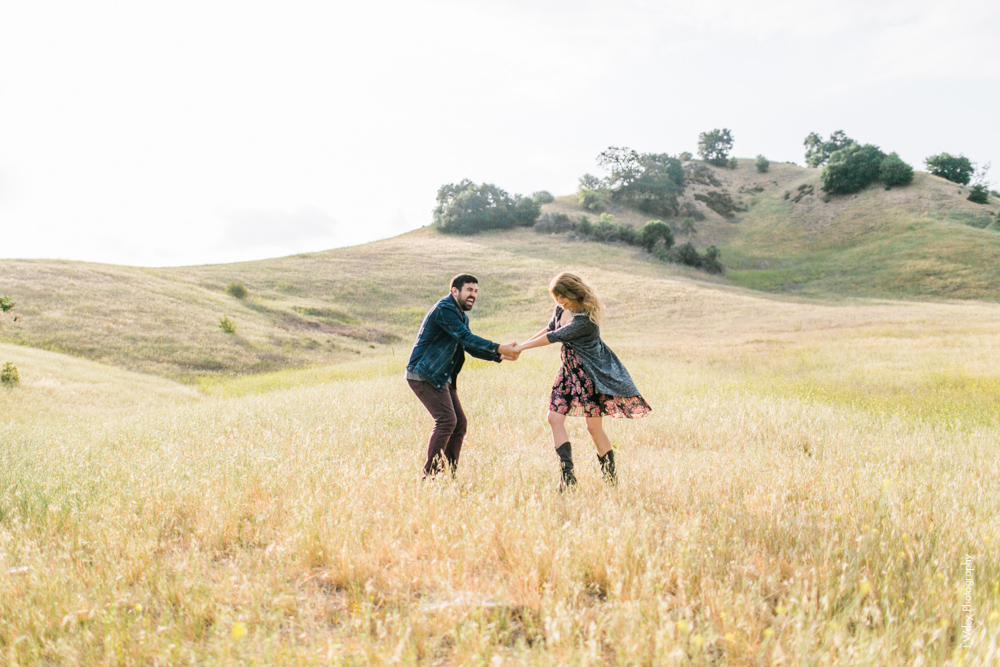 malibu engagement photography los angeles wedding photographer candid indie field mountains wildflowers-1063