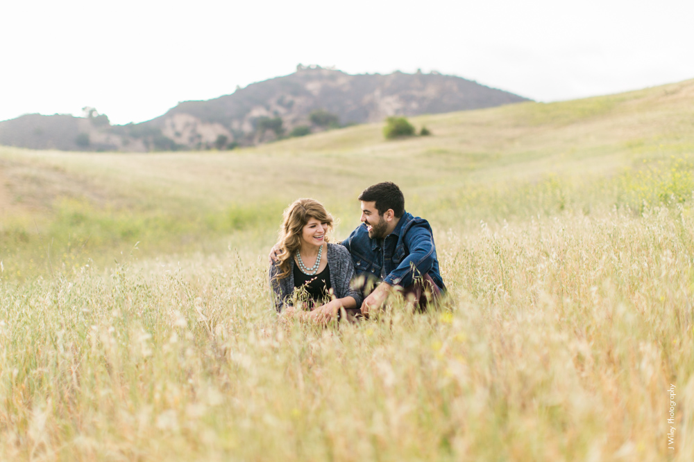 malibu engagement photography los angeles wedding photographer candid indie field mountains wildflowers-1073