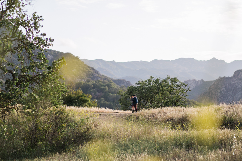 malibu engagement photography los angeles wedding photographer candid indie field mountains wildflowers-1100