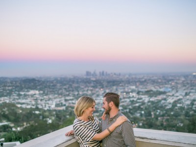 Celeste + Walker: Griffith Observatory Engagement Photography: Los Angeles
