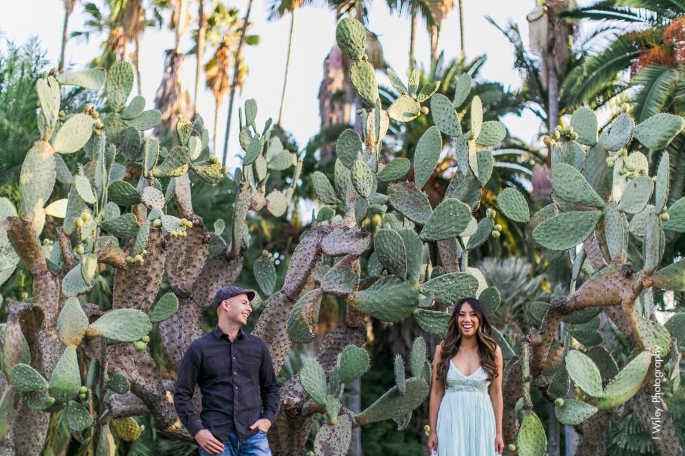 engagement photography wedding photographer los angeles arboretum botical gardens nature casual elegant-1095