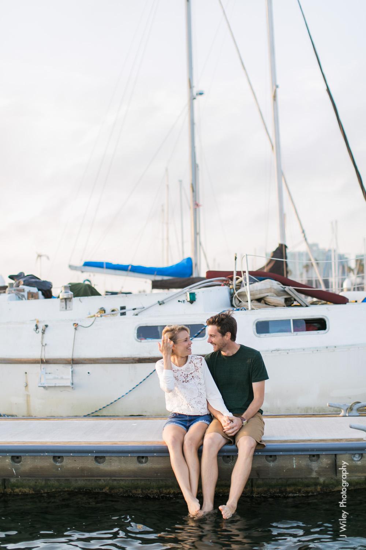 los angeles wedding photographer engagement photography santa monica marina venice beach boat nautircal causal fun dogs-1125