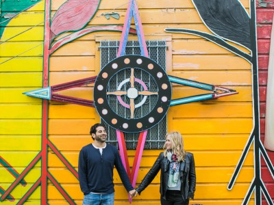 Allie + Mike: Colorful Mural Engagement Photography: San Francisco
