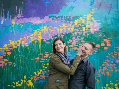 Rachel + Aaron: Arts District Murals Engagement: Downtown Los Angeles Wedding Photographer