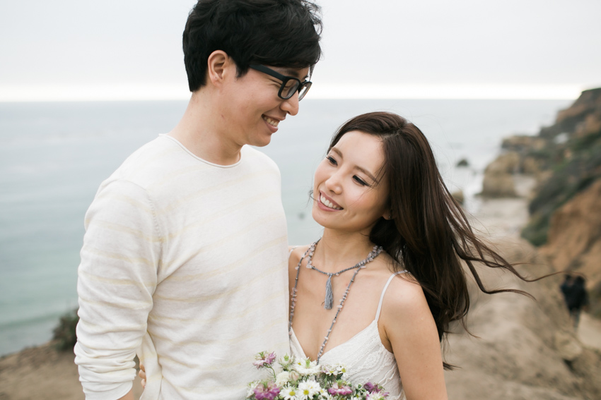 El Matador Beach Engagement Los Angeles Wedding Photographer Boho Bohemian Hipster-4020
