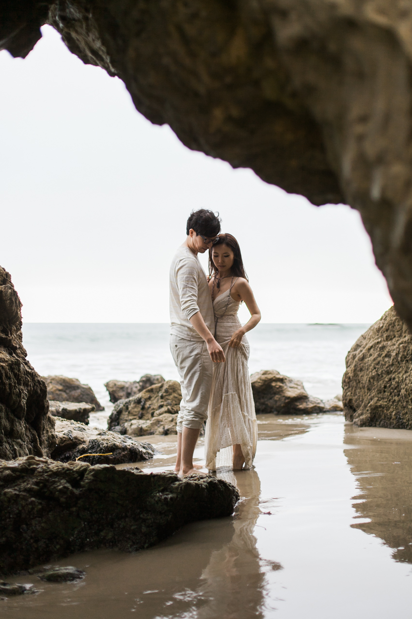 El Matador Beach Wedding Photographer Engagement Los Angeles Boho Bohemian Hipster-1014
