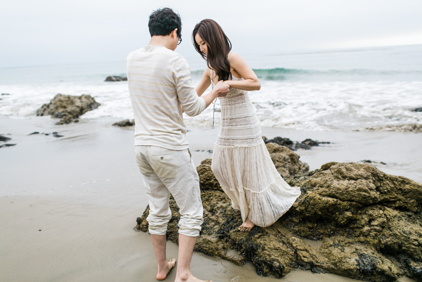 El Matador Beach Wedding Photographer Engagement Los Angeles Boho Bohemian Hipster-1021