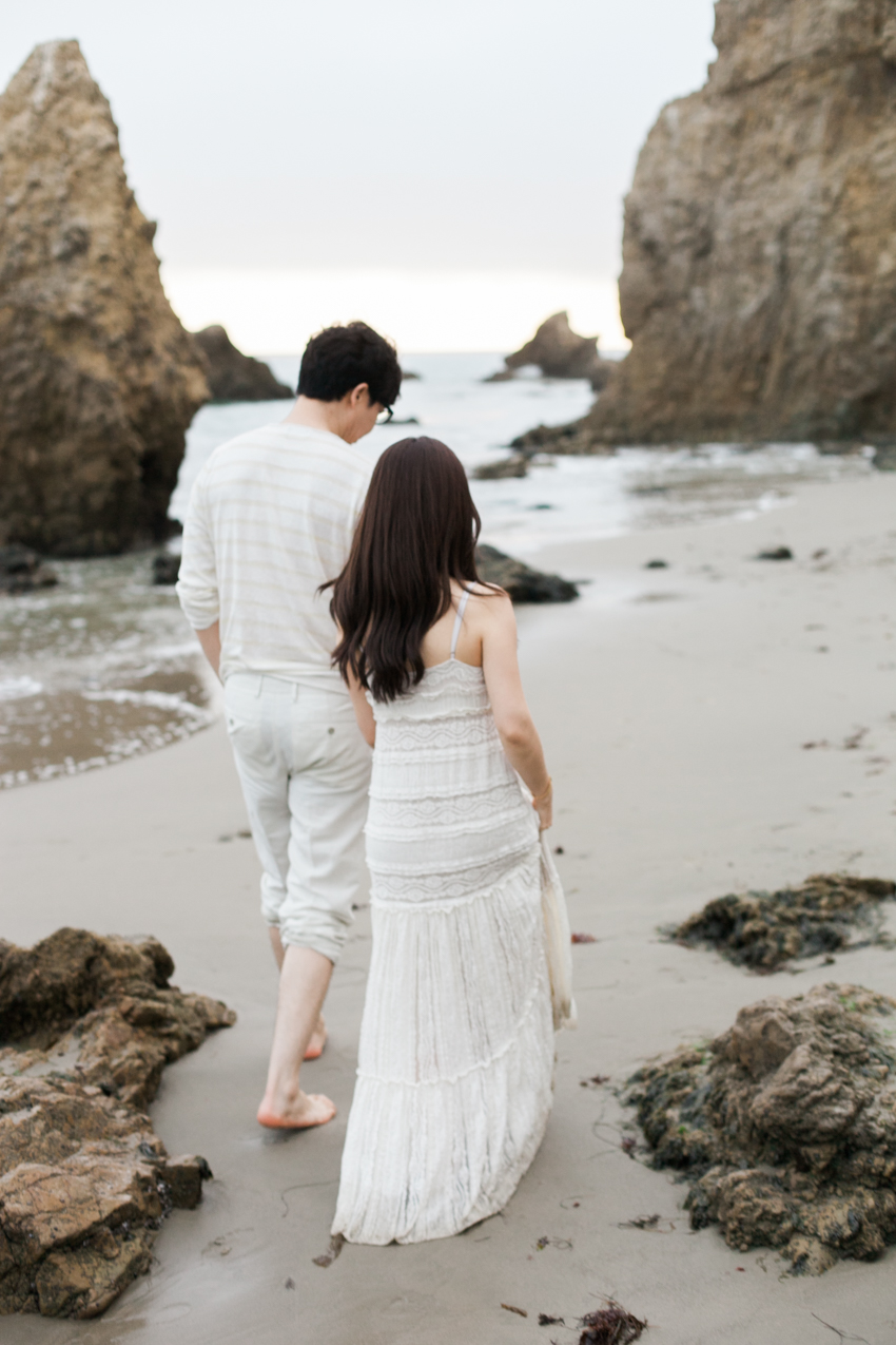 El Matador Beach Wedding Photographer Engagement Los Angeles Boho Bohemian Hipster-1031