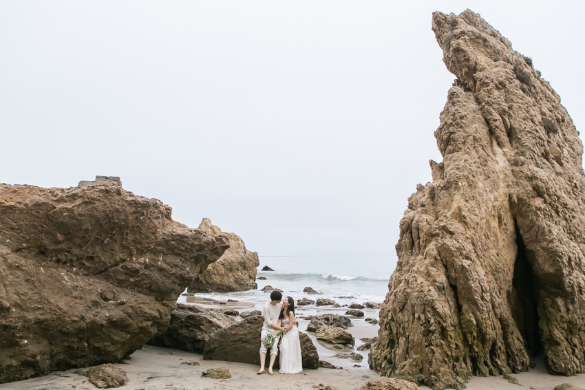 El Matador Beach Wedding Photographer Engagement Los Angeles Boho Bohemian Hipster-1036