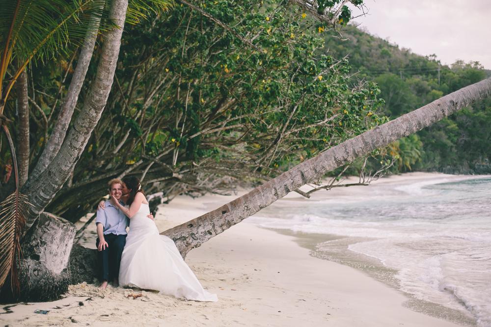 J Wiley Los Angeles Destination Wedding Photographer St John Virgin Islands wedding photography tropical sunset Oppenheimer beach travel fun DIY offbeat coral mismatched dresses first look handmade-6465