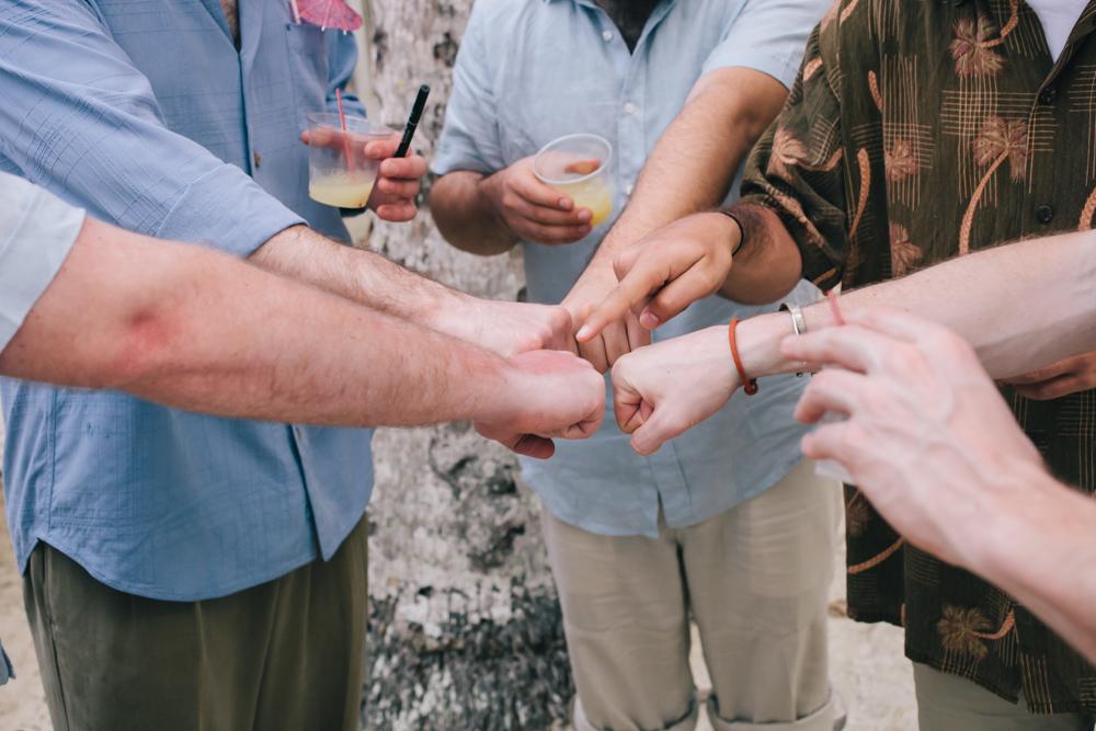 J Wiley Los Angeles Destination Wedding Photographer St John Virgin Islands wedding photography tropical sunset Oppenheimer beach travel fun DIY offbeat coral mismatched dresses first look handmade-6558