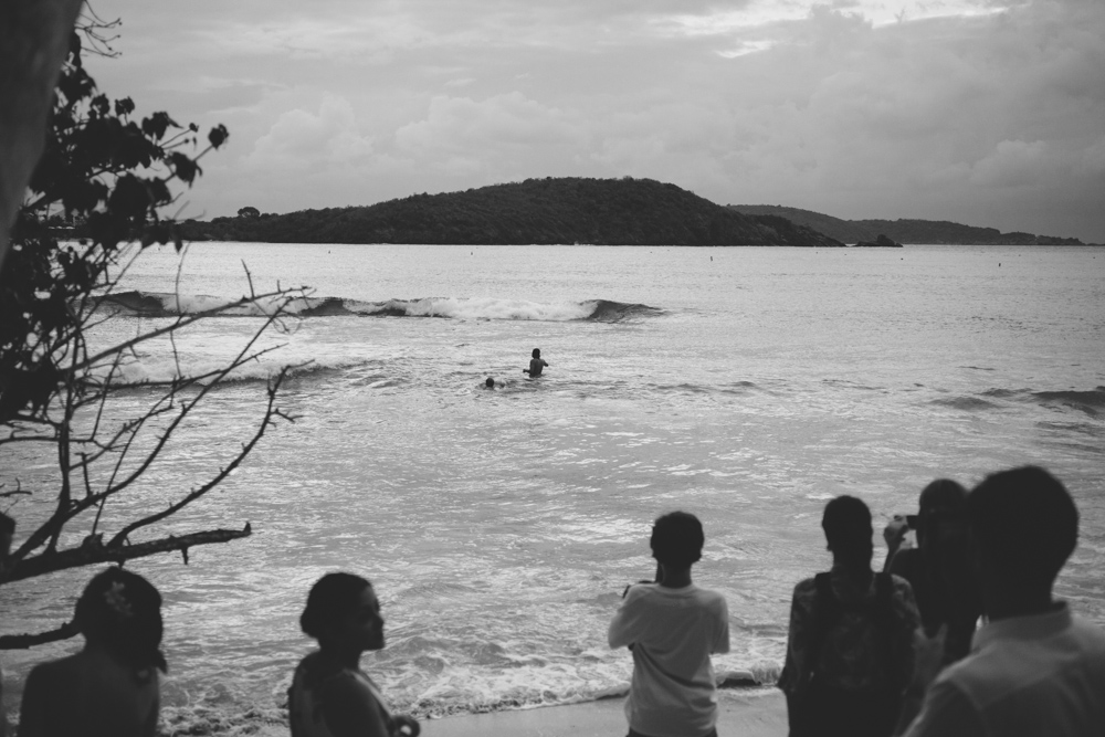 J Wiley Los Angeles Destination Wedding Photographer St John Virgin Islands wedding photography tropical sunset Oppenheimer beach travel fun DIY offbeat coral mismatched dresses first look handmade-6569