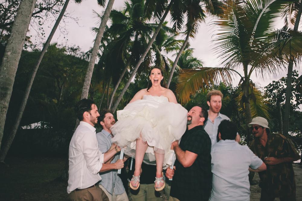 J Wiley Los Angeles Destination Wedding Photographer St John Virgin Islands wedding photography tropical sunset Oppenheimer beach travel fun DIY offbeat coral mismatched dresses first look handmade-6625