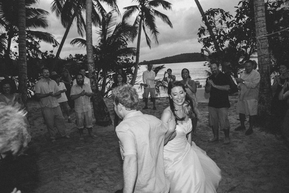 J Wiley Los Angeles Destination Wedding Photographer St John Virgin Islands wedding photography tropical sunset Oppenheimer beach travel fun DIY offbeat coral mismatched dresses first look handmade-6658