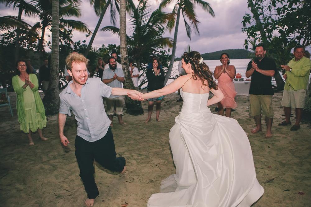J Wiley Los Angeles Destination Wedding Photographer St John Virgin Islands wedding photography tropical sunset Oppenheimer beach travel fun DIY offbeat coral mismatched dresses first look handmade-6660