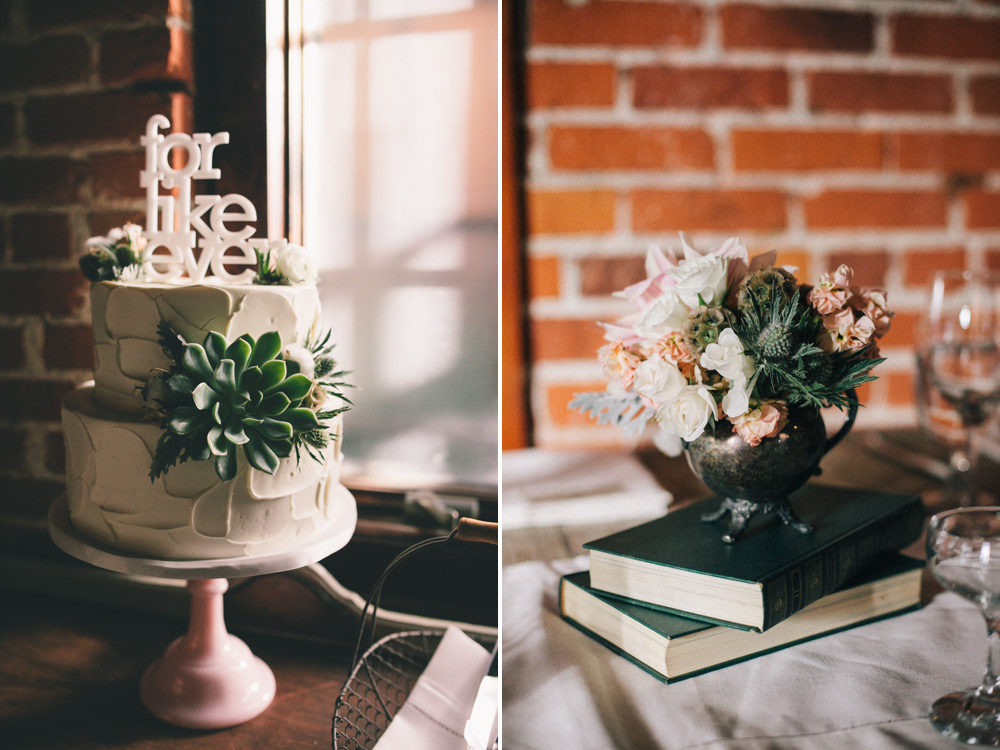 J Wiley Photography Los Angeles Wedding Photographer Carondelet House Downtown Urban DIY Indie Nontraditional Mismatched Library Books-402