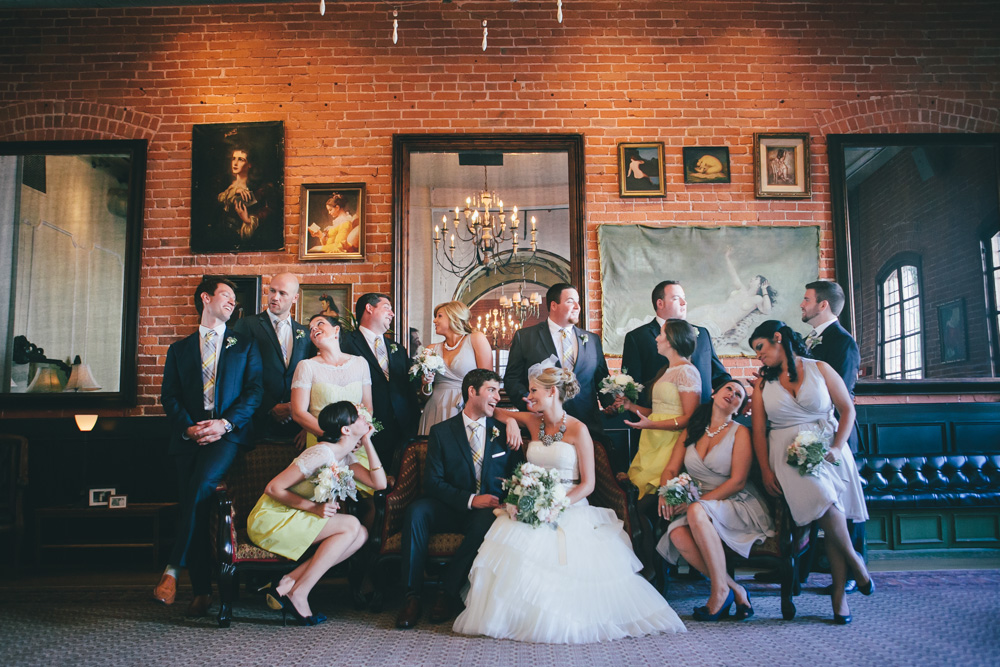 J Wiley Photography Los Angeles Wedding Photographer Carondelet House Downtown Urban DIY Indie Nontraditional Mismatched Library Books-9