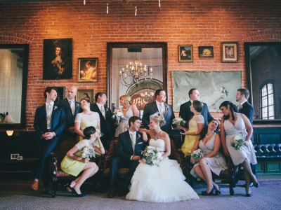 J Wiley Photography Los Angeles Wedding Photographer Carondelet House Downtown Urban DIY Indie Nontraditional Mismatched Library Books