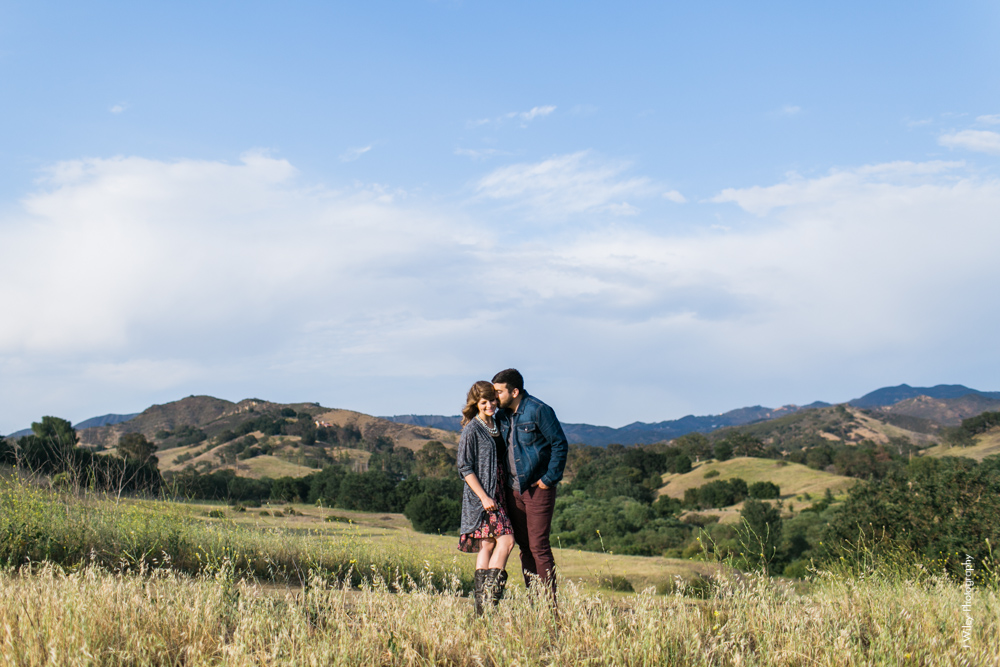 malibu engagement photography los angeles wedding photographer candid indie field mountains wildflowers-1095