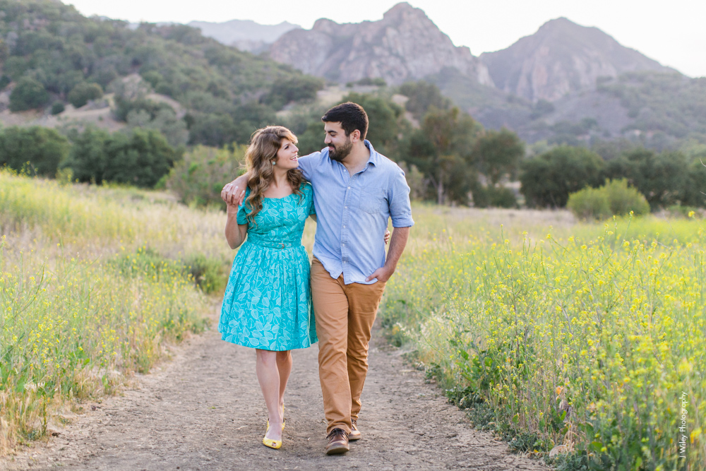 malibu engagement photography los angeles wedding photographer candid indie field mountains wildflowers-1150