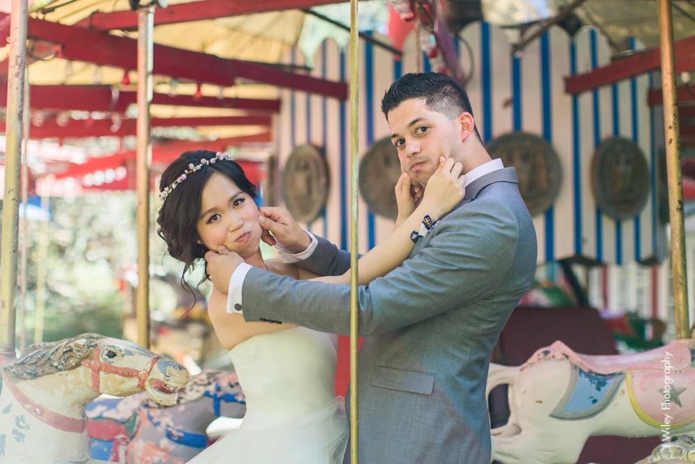 calamigos ranch malibu wedding pink confetti first look ferris wheel-1190