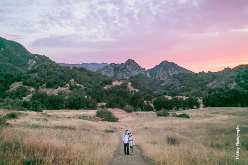 los angeles wedding photographer mountains engagement