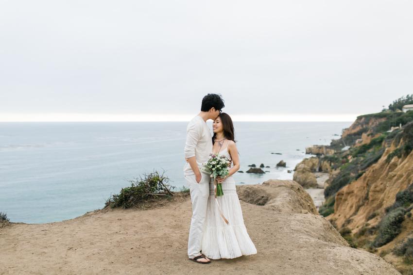El Matador Beach Engagement Los Angeles Wedding Photographer Boho Bohemian Hipster-4011