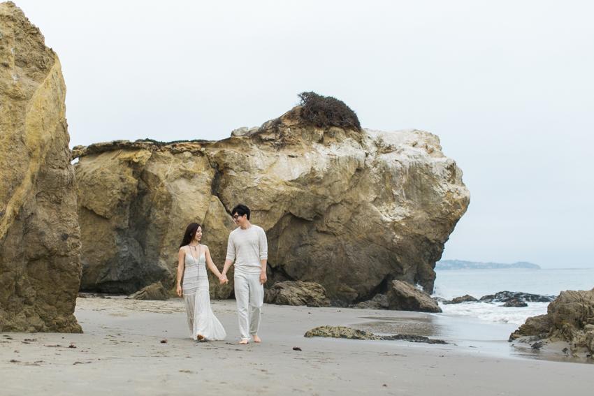 El Matador Beach Wedding Photographer Engagement Los Angeles Boho Bohemian Hipster-1008