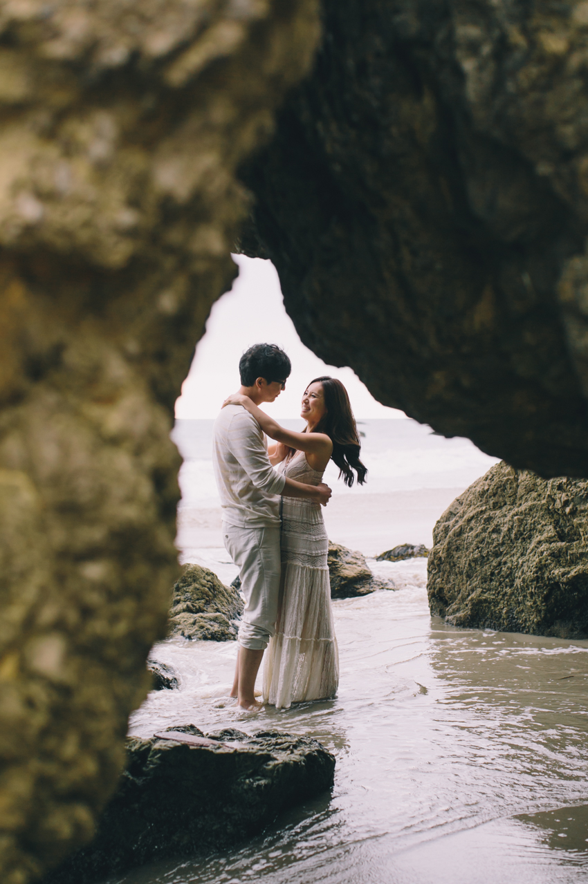 El Matador Beach Wedding Photographer Engagement Los Angeles Boho Bohemian Hipster-1015