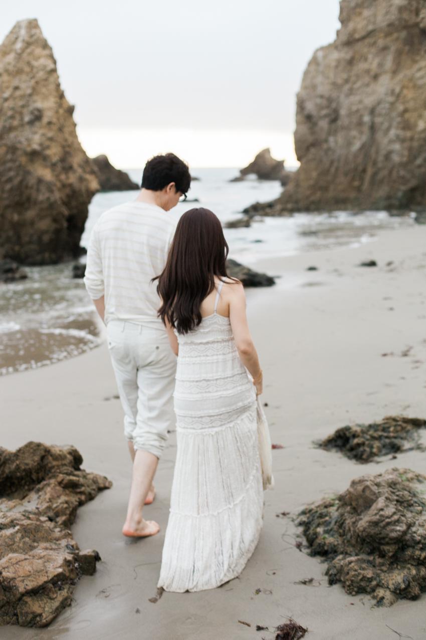 El Matador Beach Wedding Photographer Engagement Los Angeles Boho Bohemian Hipster-1031