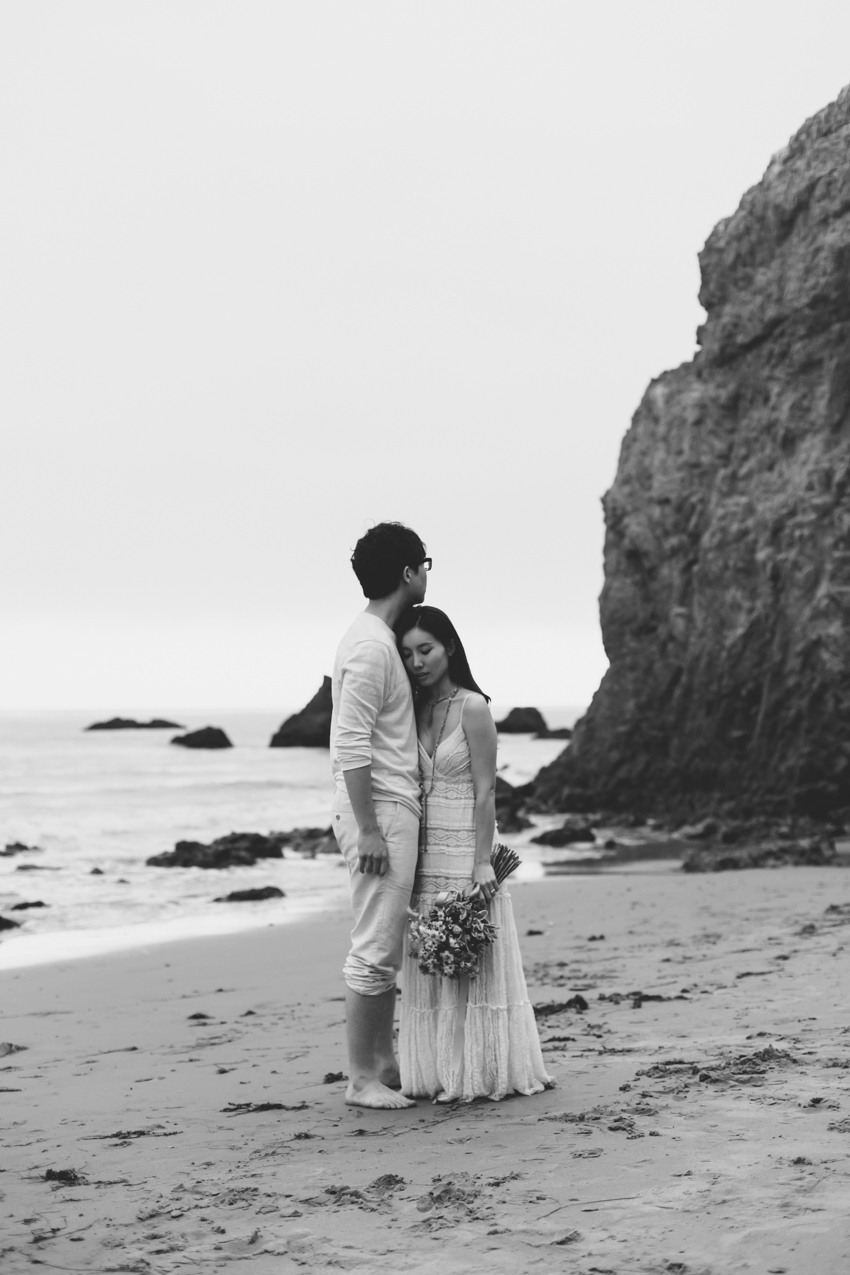 El Matador Beach Wedding Photographer Engagement Los Angeles Boho Bohemian Hipster-1032