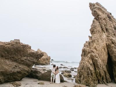 Magnolia + Andrew: El Matador Beach Engagement: Los Angeles Wedding Photographer