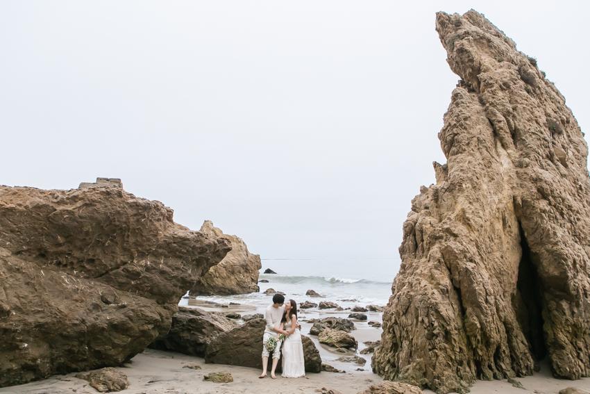 El Matador Beach Wedding Photographer Engagement Los Angeles Boho Bohemian Hipster-1036