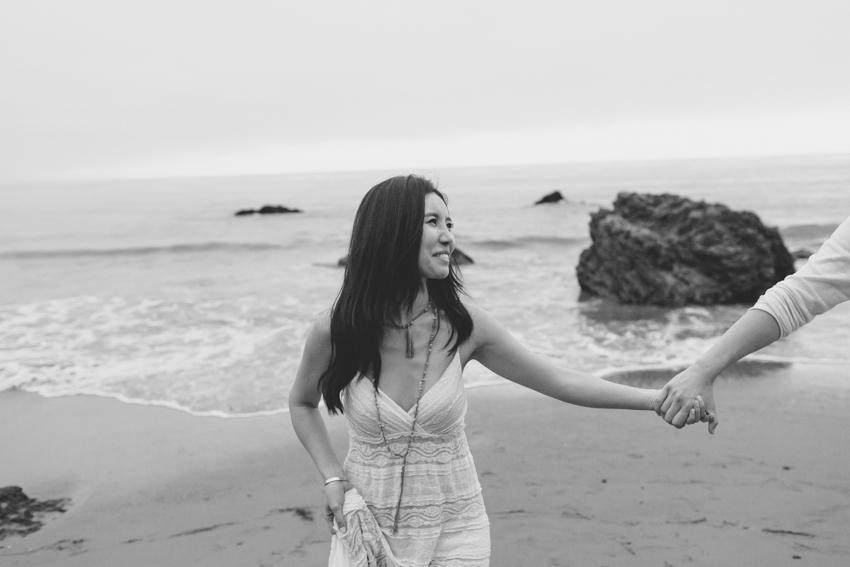 El Matador Beach Wedding Photographer Engagement Los Angeles Boho Bohemian Hipster-1041