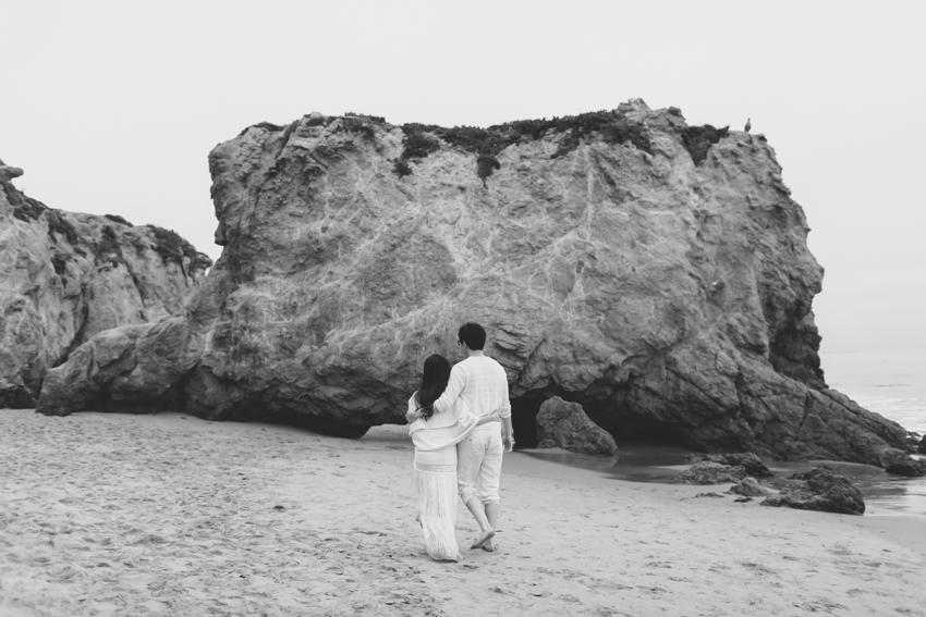 El Matador Beach Wedding Photographer Engagement Los Angeles Boho Bohemian Hipster-1042